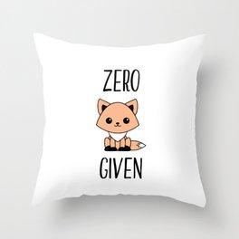 Zero Fox Given Throw Pillow
