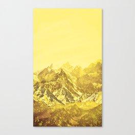 Mountains Yellow Canvas Print