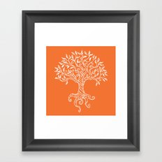 Tree of Life Orange Framed Art Print