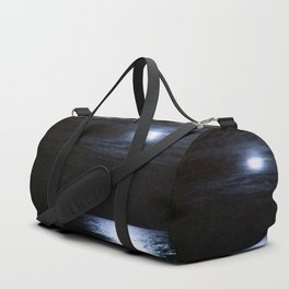 Moon Over Lake Michigan Duffle Bag