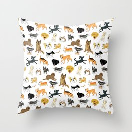 Bandit and Friends Throw Pillow