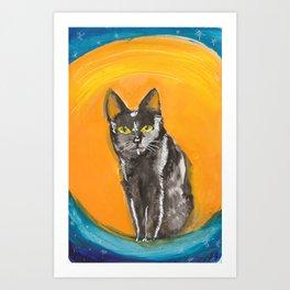 Hand Drawn Cat Art Print
