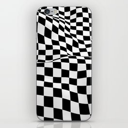 Wiggly Checker Board iPhone Skin