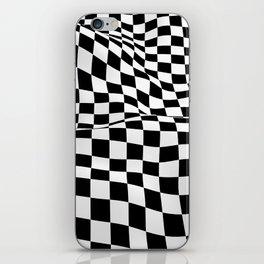 Wiggly Checker Board iPhone Skin