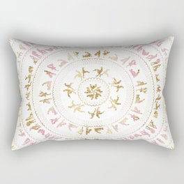 Kama Sutra Mandala Pink and Gold Rectangular Pillow