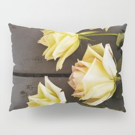 Country Yellow Roses Pillow Sham