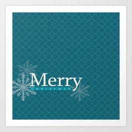 Teal Christmas Print Art Print