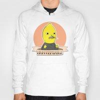 lemongrab Hoodies featuring earl of lemongrab by Tiffany Willis
