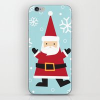 santa iPhone & iPod Skins featuring Santa by Claire Lordon