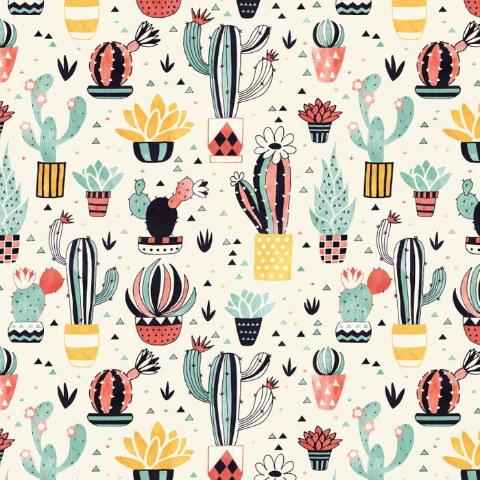 Cacti in a Flower Pot Comforters