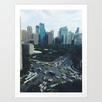 philippines Art Prints featuring Manila, Philippines  by Pan Kelvin