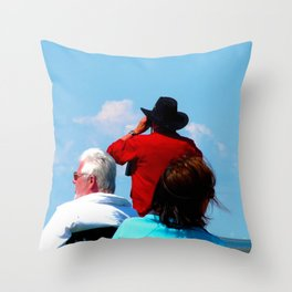 The Sun Seekers Throw Pillow