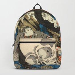 Utagawa Kuniyoshi - Takiyasha the Witch and the Skeleton Spectre Backpack