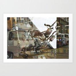 Car Emissions - overlapper Art Print