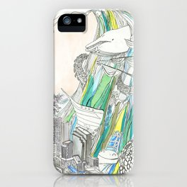 Whale Tital Wave iPhone Case