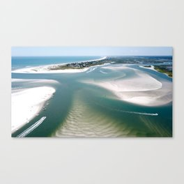 Rich's Inlet at the North End of Figure 8 Island   Wilmington NC Canvas Print