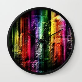 New York City in Living Color Landscape by Jeanpaul Ferro Wall Clock