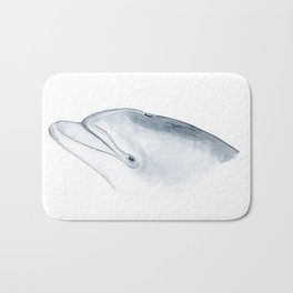 Bottlenose dolphin portrait Bath Mat