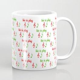 Let it play... Christmas music - Christmas Series Coffee Mug