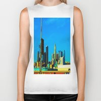 cityscape Biker Tanks featuring Cityscape by Life Of A Lens Studios