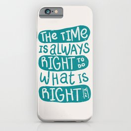 Equality - Aqua Typography iPhone Case