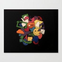 Social Media Networks Canvas Print