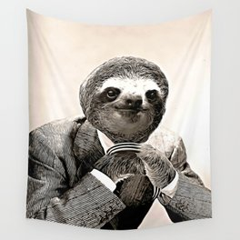 Gentleman Sloth with Assorted Pose Wall Tapestry