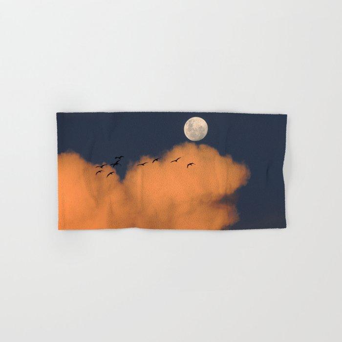 Moon cloud sky 7 Hand & Bath Towel