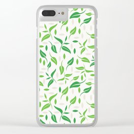 Tea leaves pattern Abstract Clear iPhone Case
