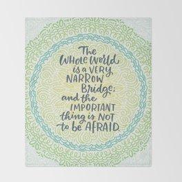 Narrow Bridge Mandala Throw Blanket