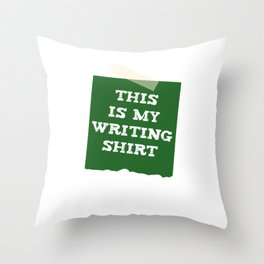 Author This Is My Writing Tee Novelist Story Book Writer Throw Pillow