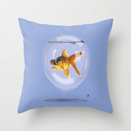 Inflated (Colour) Throw Pillow