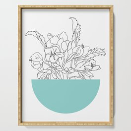 VESSEL - Floral Ink in Mint Green - Cooper and Colleen Serving Tray