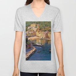 Ligurian Sea, Portofino Italy by Kristian Zahrtmann Unisex V-Neck