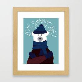 Polar Bear by Darah King Framed Art Print