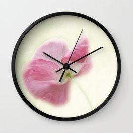 Delicate Poppy Wall Clock