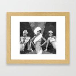 Three Divas Framed Art Print