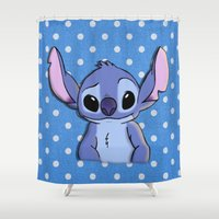 stitch Shower Curtains featuring Lilo and Stitch - Stitch by Julia Kolos