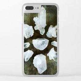 Quartz Crystal Healing Circle Clear iPhone Case