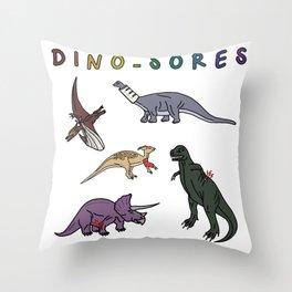 Dino-Sores Throw Pillow