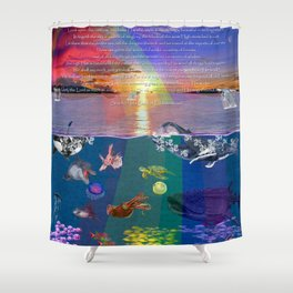 ...and the monstrous creatures of whales [full] Shower Curtain