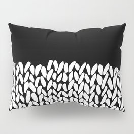 Half Knit  Black Pillow Sham