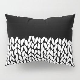 Half Knit  Black Pillow Sham