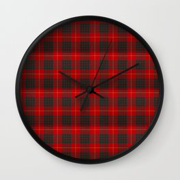 CLAN CAMERON SCOTTISH KILT TARTAN DESIGN ART Wall Clock