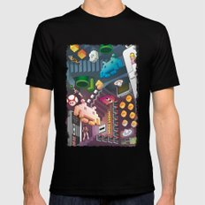 Lost in videogames X-LARGE Mens Fitted Tee Black
