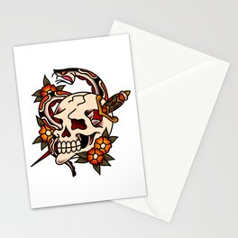 Death and Rebirth Skull Stationery Cards