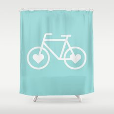 Ride Your Heart Out -  Bike Bicycle Love Shower Curtain