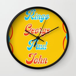Yellow Sub Wall Clock
