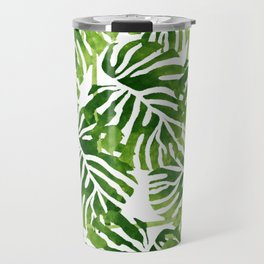 Tropical Leaves - Green Travel Mug