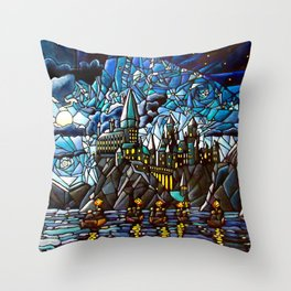 First Day of Magic... Throw Pillow